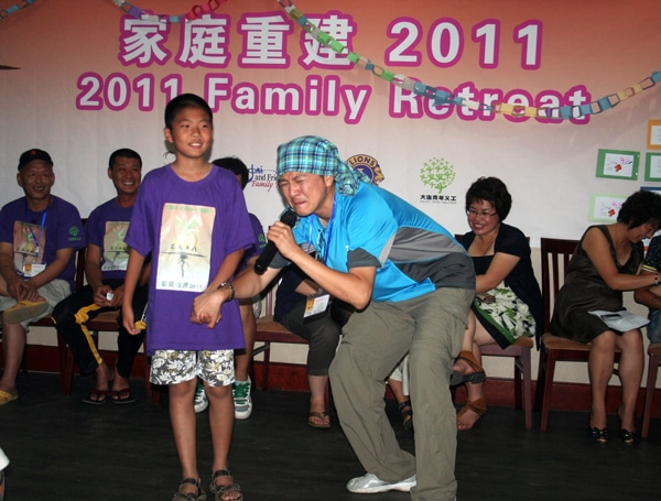 talent show at a family retreat in china