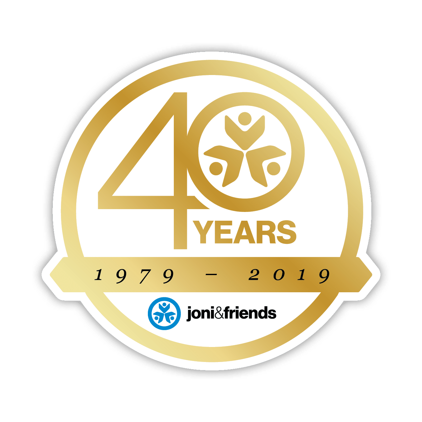 Joni And Friends 40 YEAR LOGO Drop Shadow
