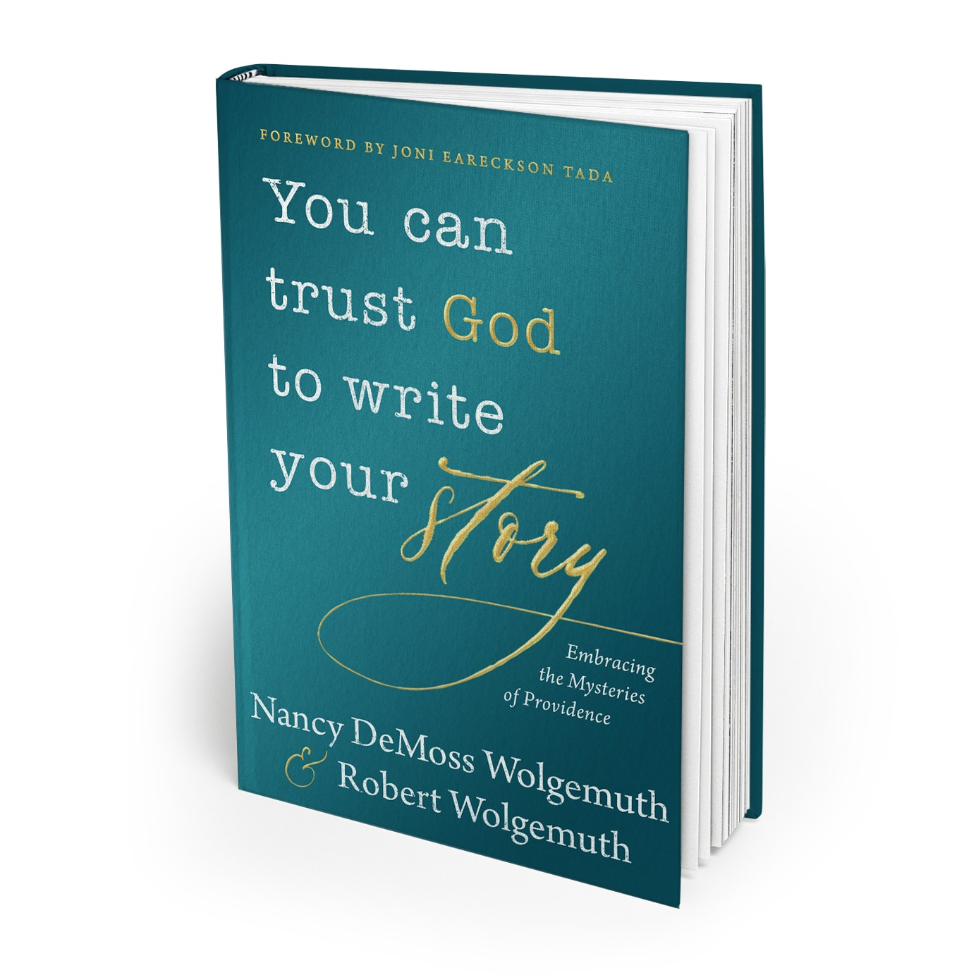 You Can Trust God To Write Your Story 3D Hard Cover Book Mockup